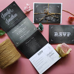 Blackboard Concertina Wedding Invitations