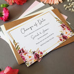 Blush Gold change of date cards