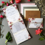 Blush Gold Wedding Invitation Sample