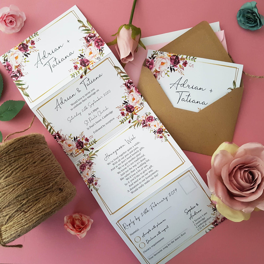 Blush Gold Wedding Invitations