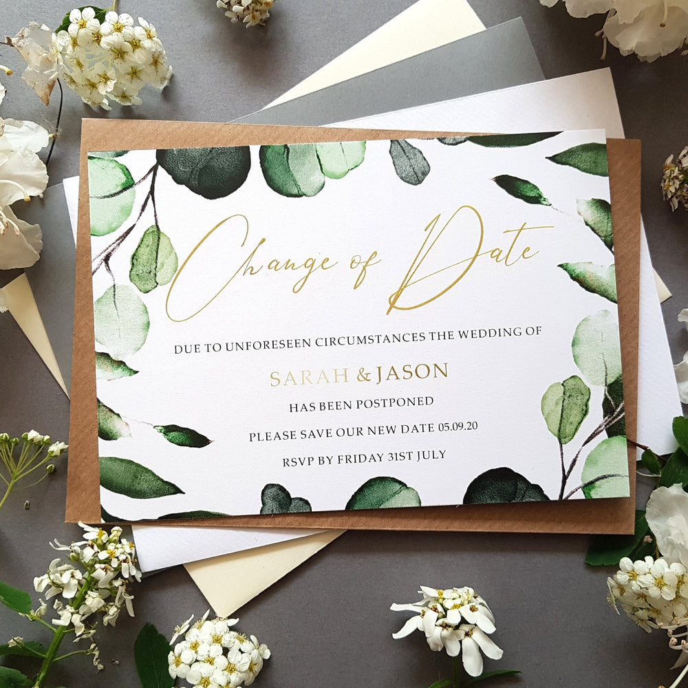 Botanical change of date cards