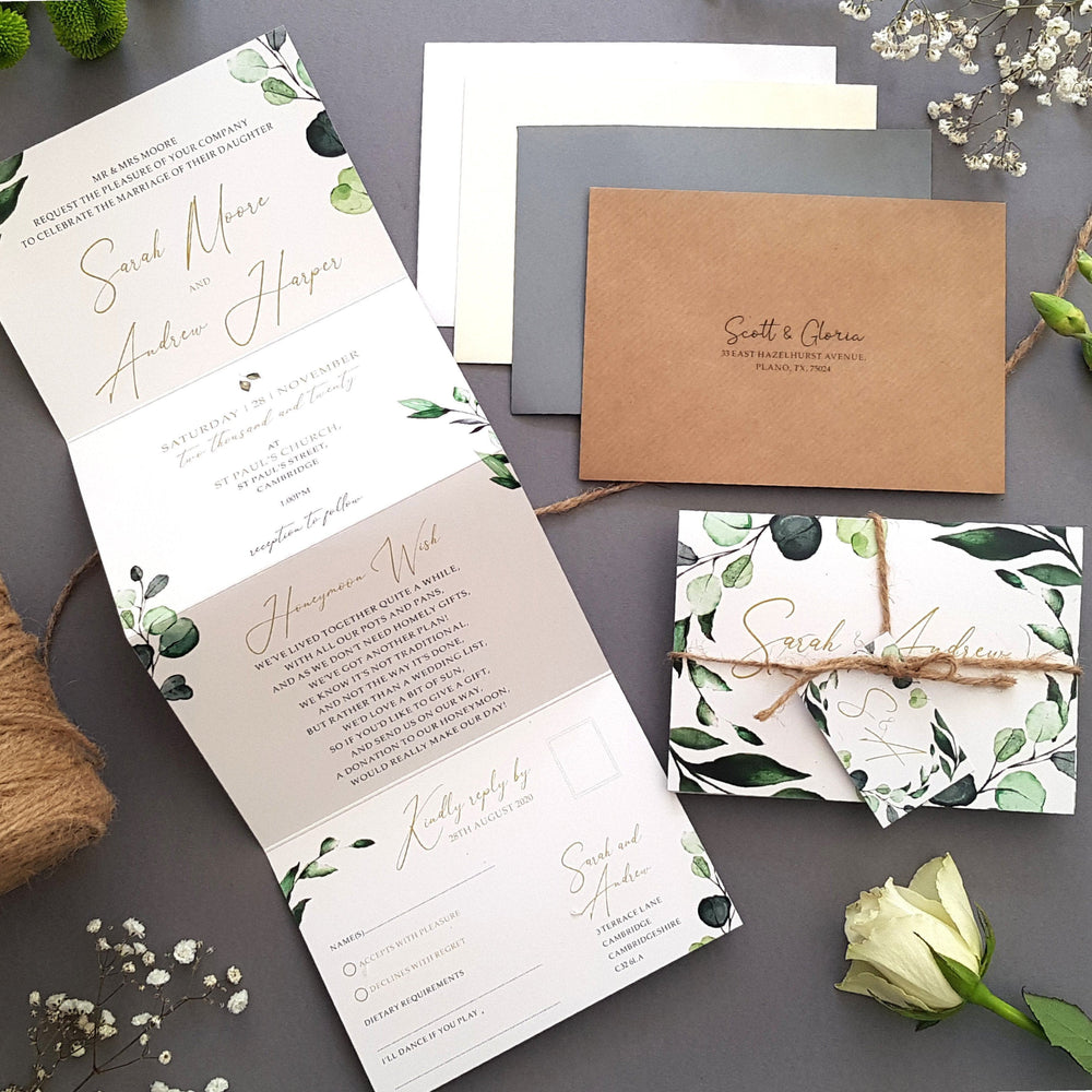 Botanical , Sienna Mai Personalised Wedding Invitations