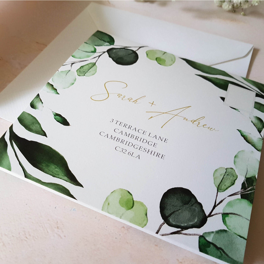 Botanico Botanical , Sienna Mai Personalised Wedding Invitations