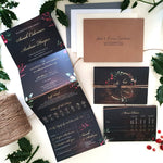 Christmas Winter Wedding Invitation Sample