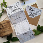 Fairytale Wedding and Evening Invitation