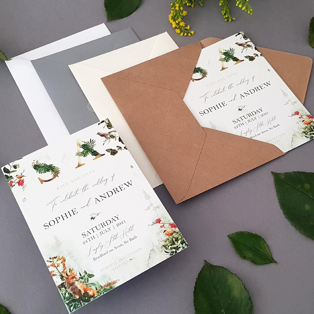 Forest , Sienna Mai Personalised Wedding Invitations