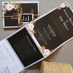 Glitz Floral  Concertina Wedding Invitations, Tag & Twine Sample , Sienna Mai Personalised Wedding Invitations