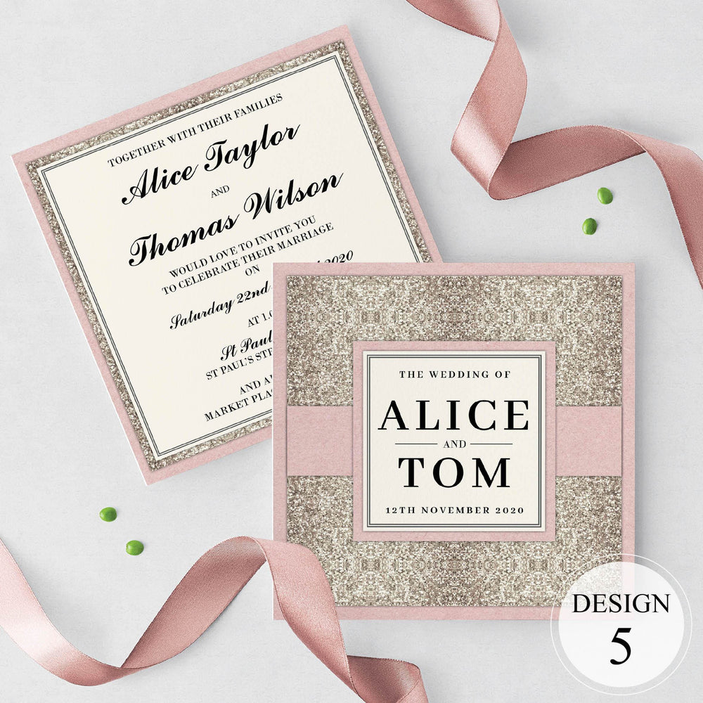 Glitz & Glam Wedding and Evening Invitation