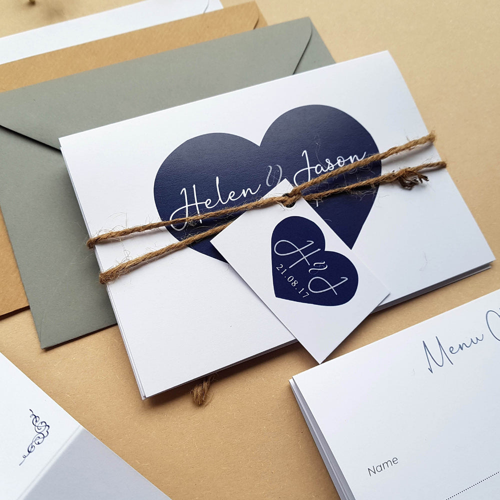 Heart Concertina , Sienna Mai Personalised Wedding Invitations