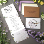 Lilac Floral Concertina Wedding Invitations Sample , Sienna Mai Personalised Wedding Invitations