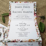 Roses Concertina Wedding and Evening Invitation , Sienna Mai Personalised Wedding Invitations