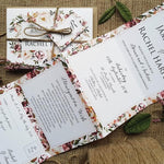 Roses Concertina Wedding Invitations Sample