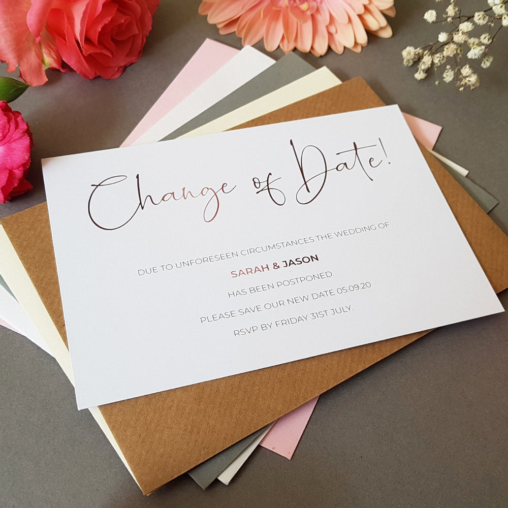 Script change of date cards