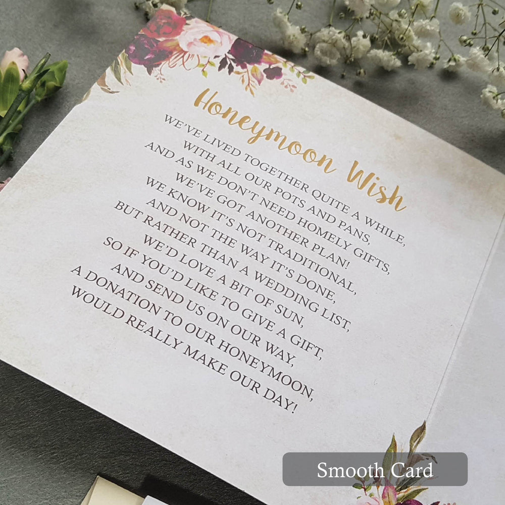 Wild Floral Trifold Wedding Invitations , Sienna Mai Personalised Wedding Invitations