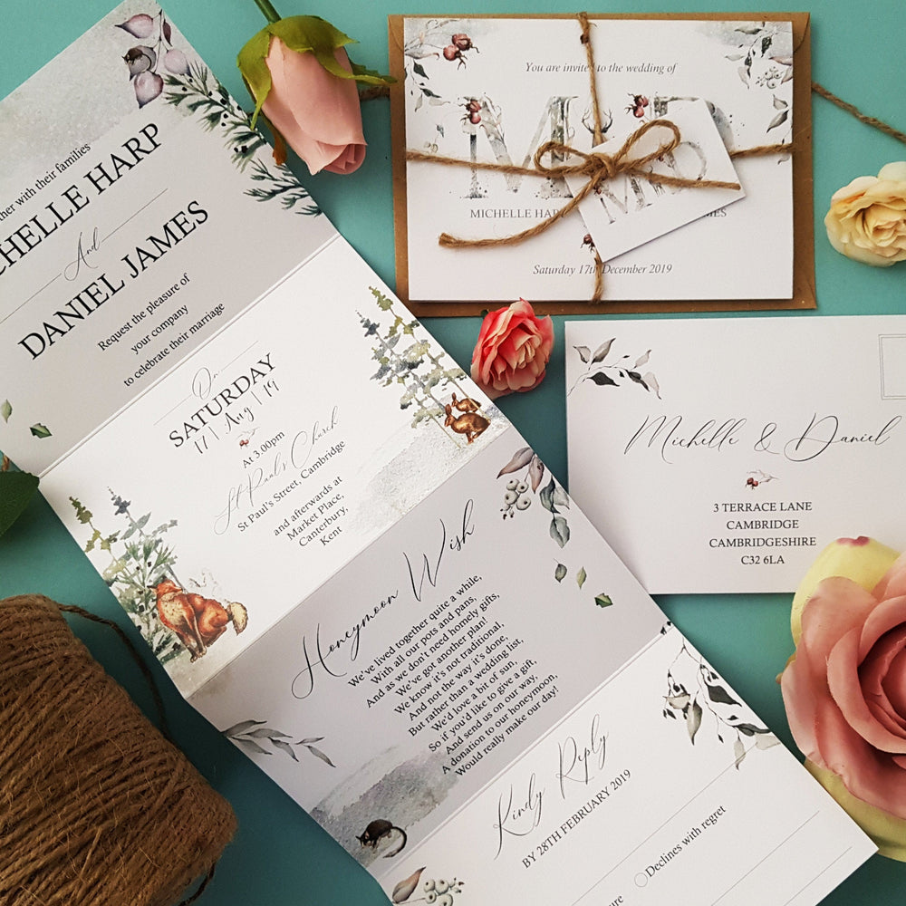 Winter Woodland Wedding Invitations
