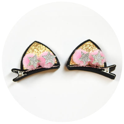 Kitty Hair clips