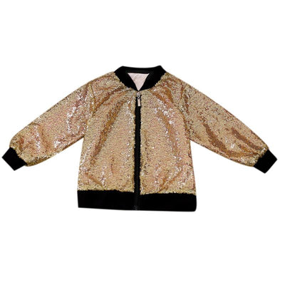 Girls Gold Sequins Jacket
