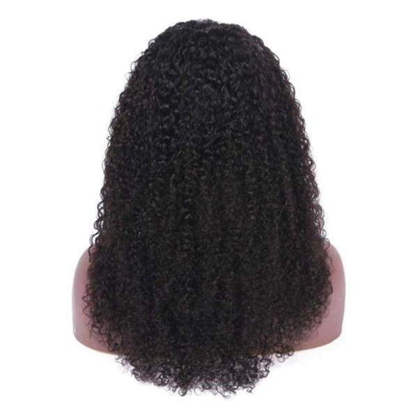 13*6 Lace Front Wig Kinky Curly Natural Black Deep Parting Pre-Plucked