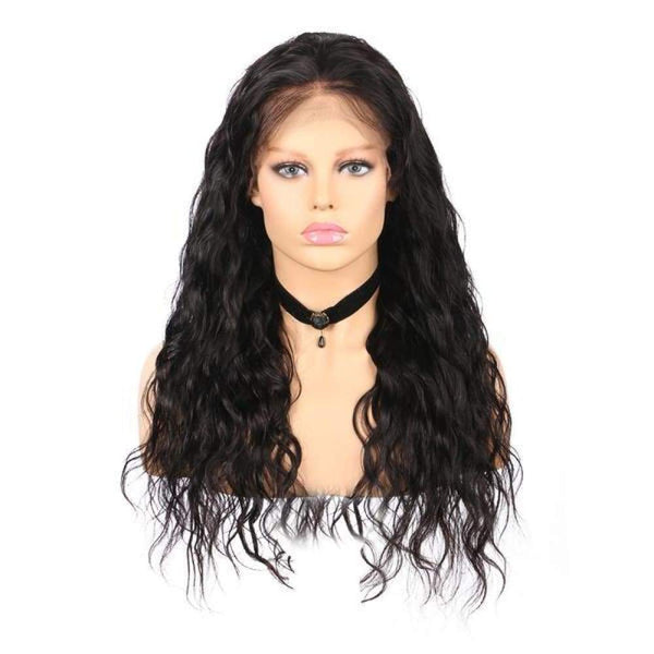 13*6 Lace Front Wig Natural Wave Natural Black Deep Parting Pre-Plucked