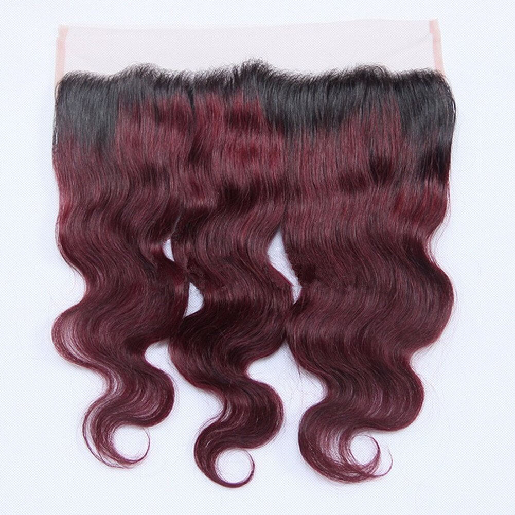 1B/99J Body Wave 13x4 Lace Frontal Human Hair