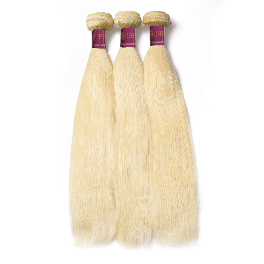 Bleach Blonde 613 Straight 100% Human Virgin Hair Bundles