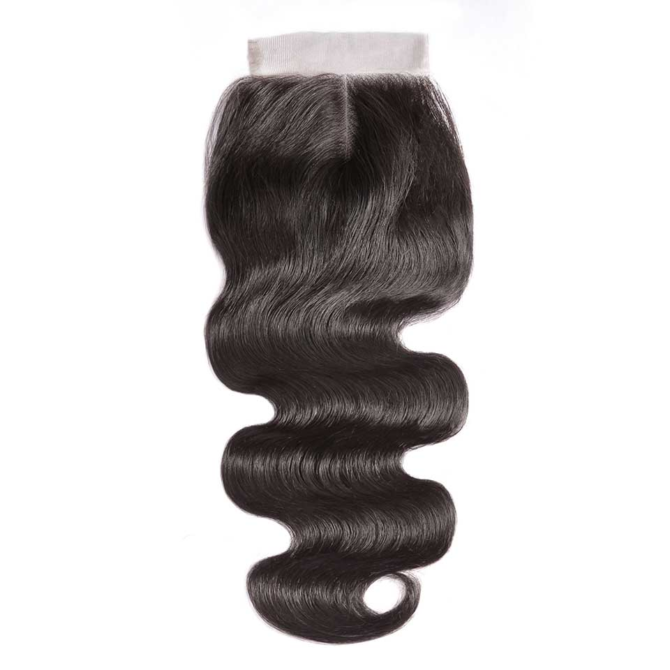 Body Wave Natural Black 4x4 Lace Closure With Baby Hair
