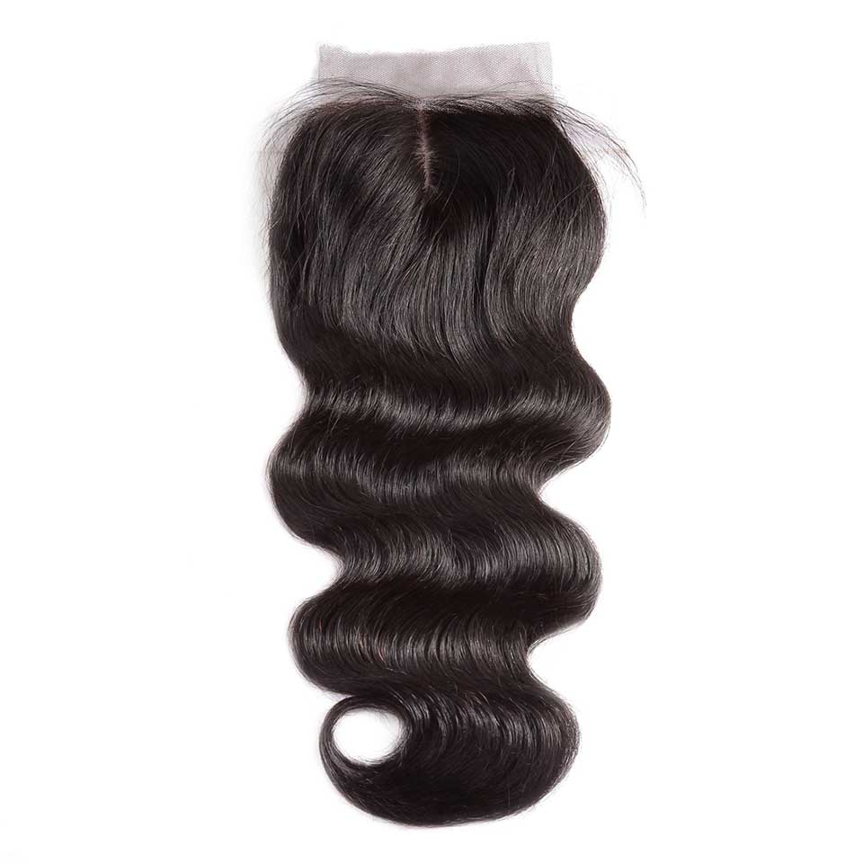 Body Wave Natural Black Silk Base Closure With Baby Hair