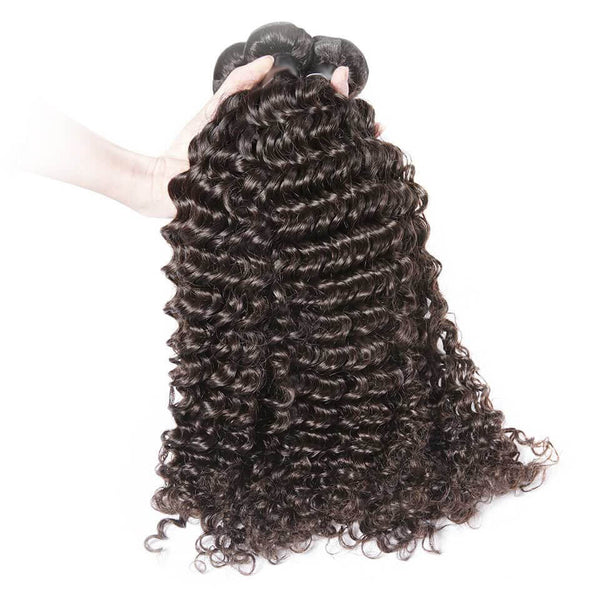 Natural Black Deep Wave 100% Human Virgin Hair Bundles