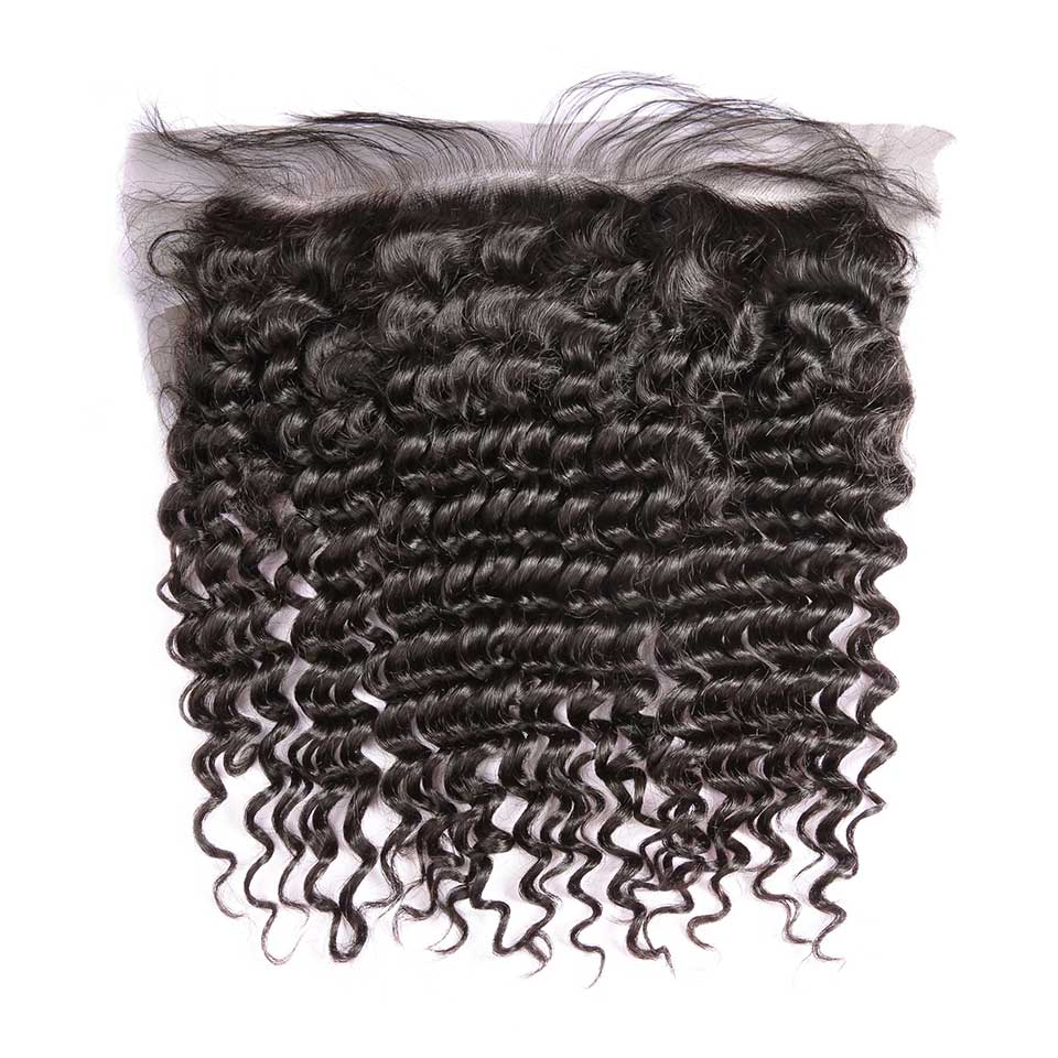 Deep Wave Natural Black 13x4 Lace Frontal
