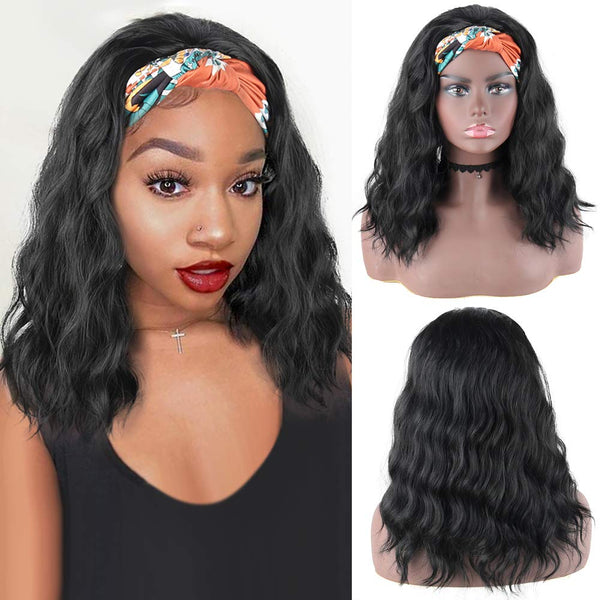 HeadbandsWig Body Wave Glueless Human Hair Wig 180% Density Affordable Price (Get Five Free Headbands)