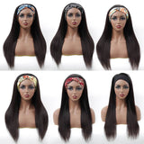 HeadbandsWig Silky Straight Glueless Human Hair Wig 180% Density Affordable Price (Get Five Free Headbands)