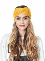 Pure Color Wool Knitted Women Headband