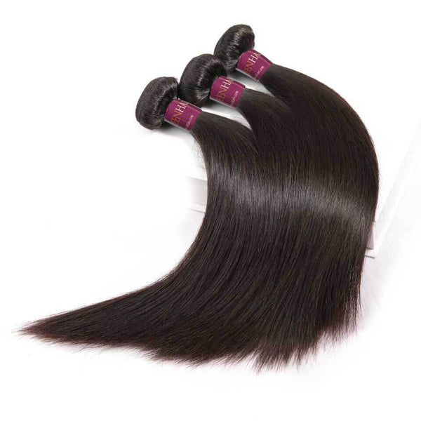 Natural Black Straight 100% Human Virgin Hair Bundles