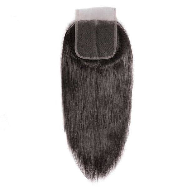 Natural Black 4*4 Lace Closure With Baby Hair