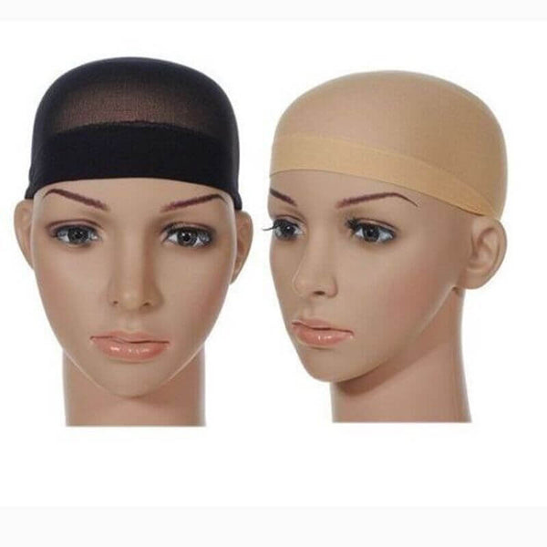 2 PCS Unisex Stock Mesh Wig Cap Hat Nylon Stretch Elastic Snood
