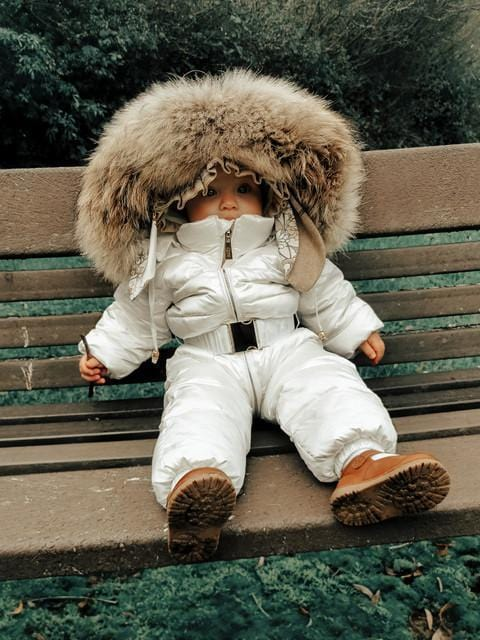 Winter Down Suit With Fur
