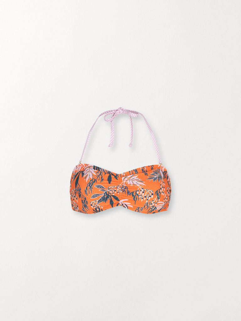 Becksöndergaard, Sylvia Bandeau Bikini - Orange, clothing, swimwear, clothing, swimwear, clothing