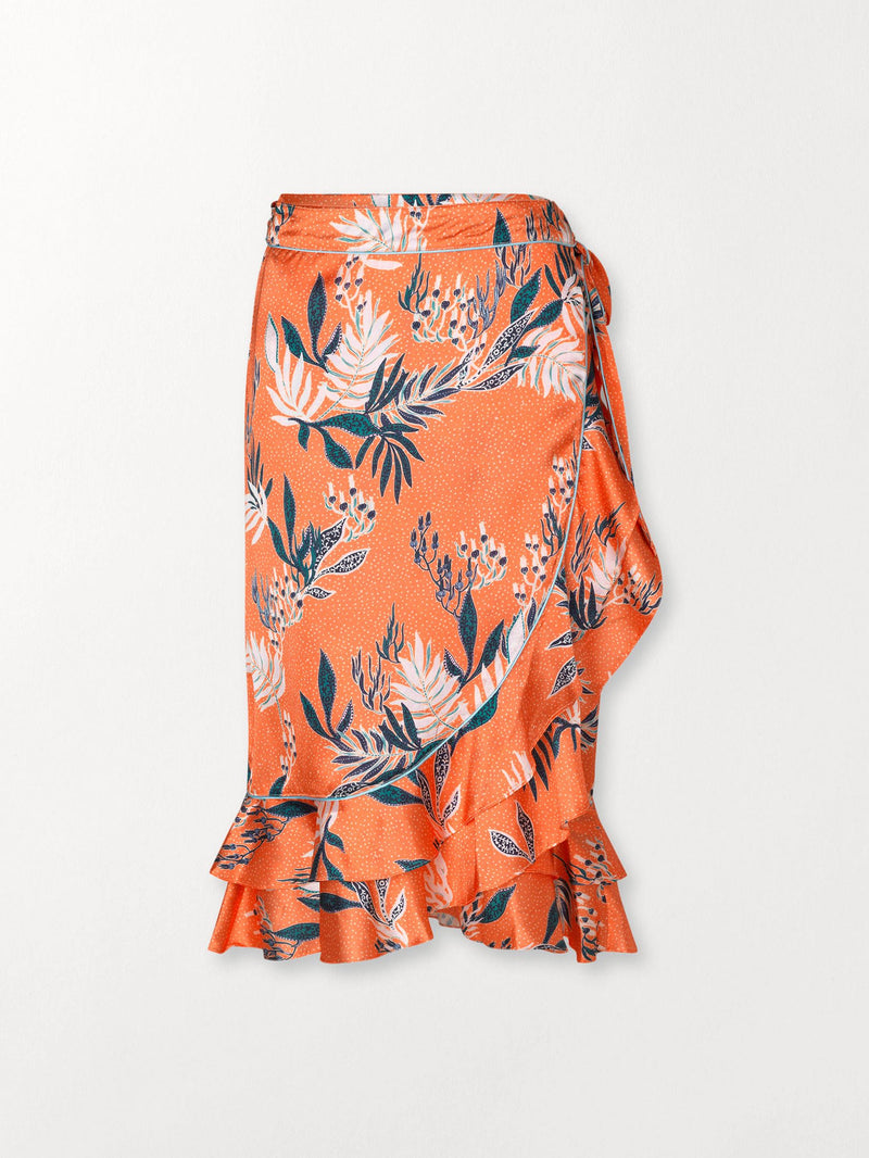 Becksöndergaard, Sylvia Camilla Skirt - Orange, outlet, outlet