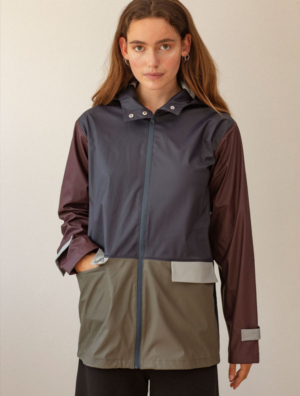 Becksöndergaard, Block Rubie Raincoat - Night Sky, clothing, clothing, clothing