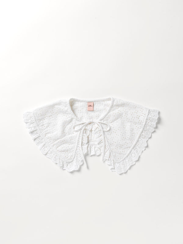 Becksöndergaard, Aubree Anglaise Collar - White, clothing, news
