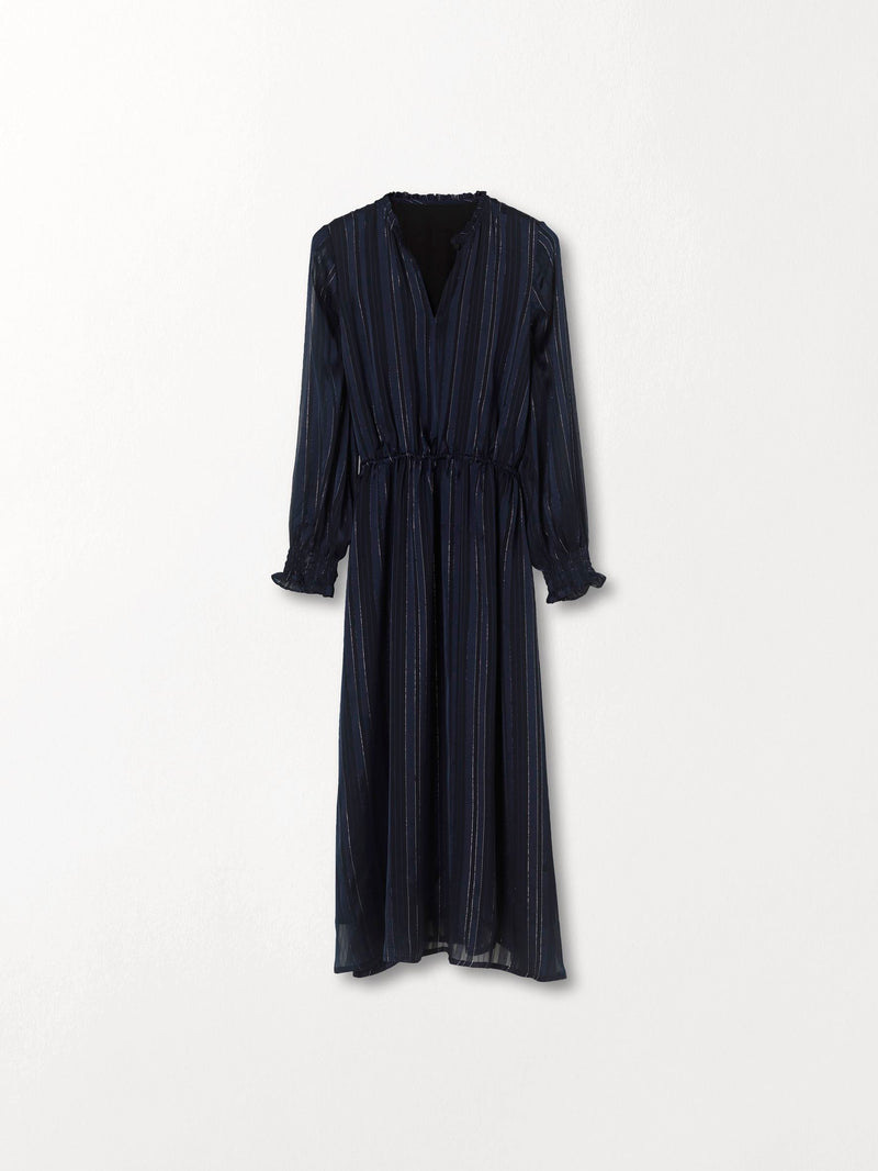 Becksöndergaard, Striped Kayllen Dress  - Night Sky, outlet flash sale, outlet flash sale, sale, sale