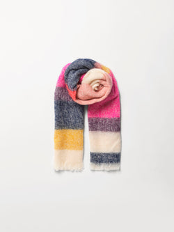 Becksöndergaard, Stripe Ingris Scarf  - Pink, outlet flash sale, outlet flash sale, sale, sale