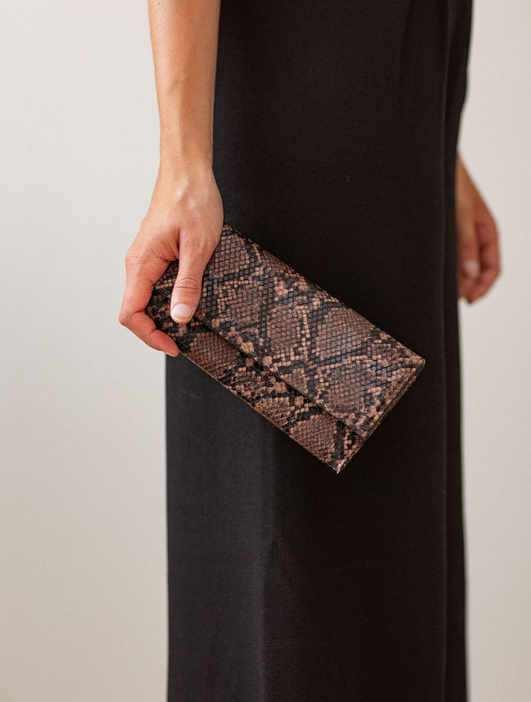 Becksöndergaard, Snake Kantay Wallet  - Brownish, accessories, wallets, accessories, wallets, accessories