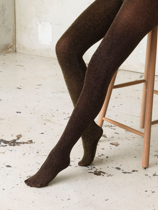 Becksöndergaard, Glitz Toro Tights  - Gold , socks
