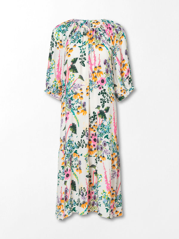 Becksöndergaard, Gardenflo Melody Dress - White, clothing, ss21, go floral, easter