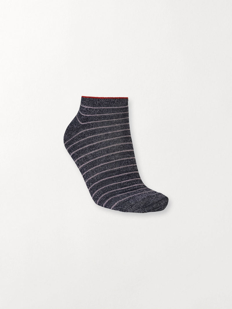 Becksöndergaard, Dollie Stripe Sock - Navy Blue, outlet, outlet