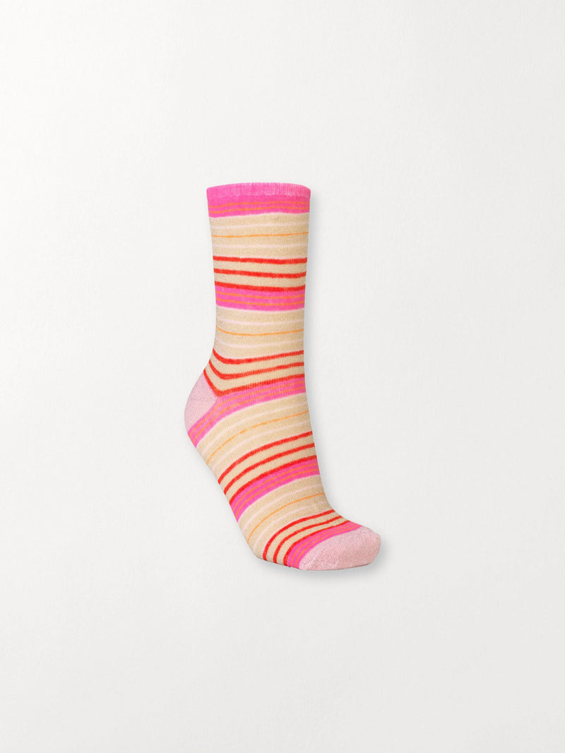 Becksöndergaard, Dory Colourful Sock - Red Love, outlet, outlet