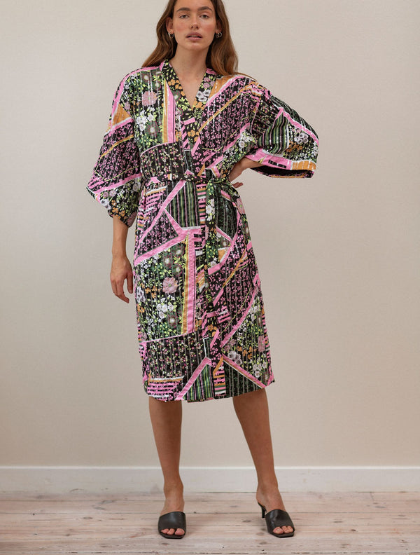 Becksöndergaard, Flowerwhirl Kimono Dress - Multi Col., outlet flash sale, outlet flash sale, sale, sale, loungewear
