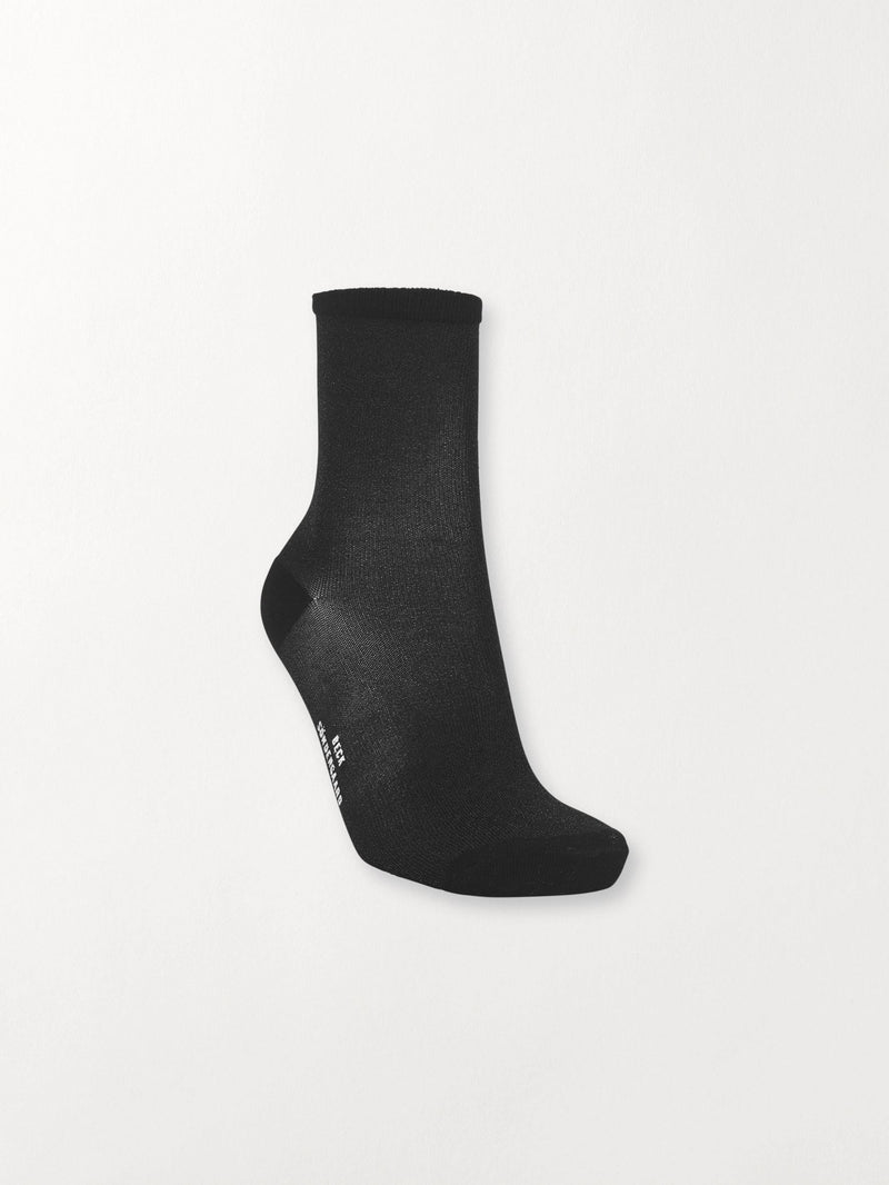 Becksöndergaard, Dina Solid Coll. - Black, accessories, socks, accessories, socks, accessories