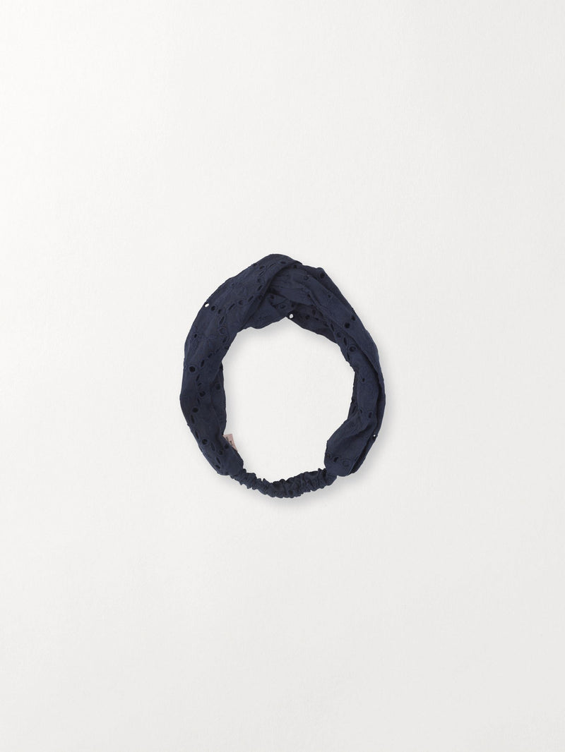 Becksöndergaard, Anglaise Hairband - Navy Blue, outlet, outlet